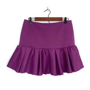 ASOS Purple Ruffle Drop Waist Mini Skirt